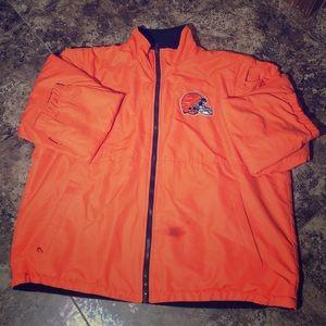 Men's OSU NFL reversible Cleveland browns coat XL